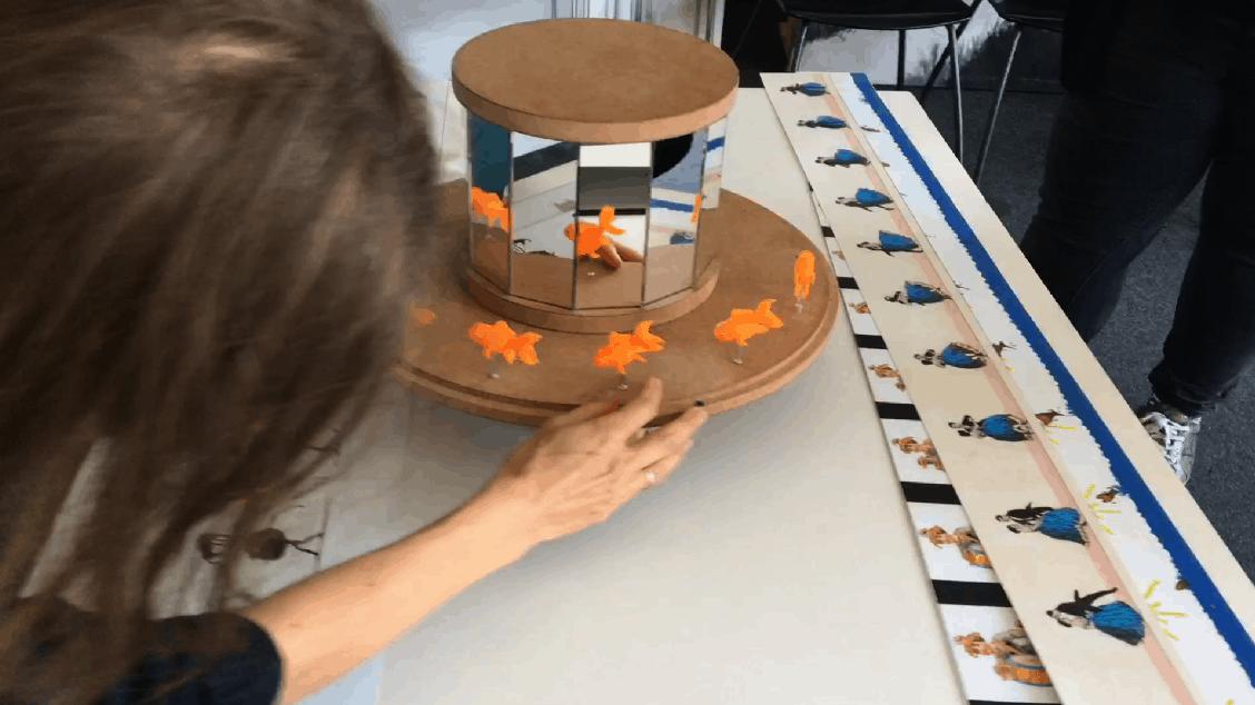 Praxinoscope 3D-volume. Formation sur la Malle jouets optiques et pré-cinéma Praximage