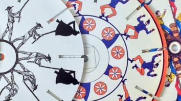 Disques de Phénakistiscope de la Malle jouets optiques et pré-cinéma Praximage